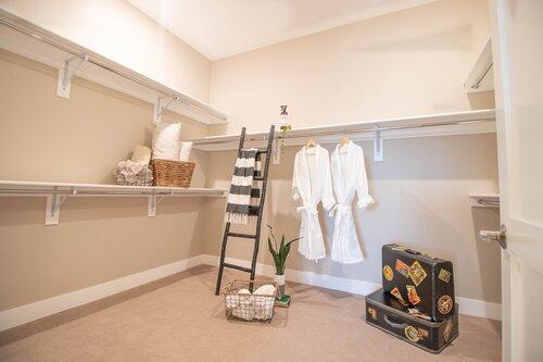 Massive walk-in closet perfect for a couple!