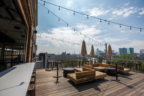Avanti Rooftop Patio with downtown views
