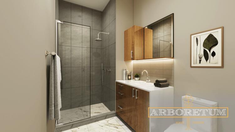 Bathroom rendering of Unit #304