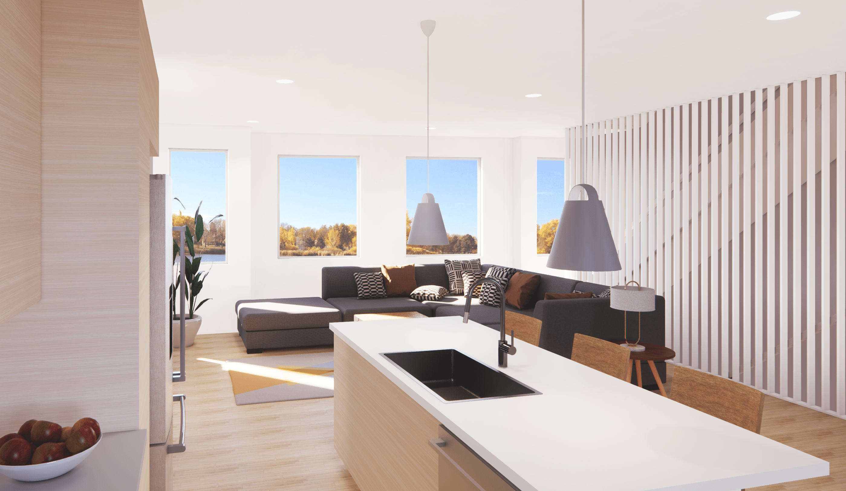 Townhomes in Denver With Mountain, Lake, and Park Views